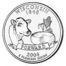 2004-P WISCONSIN GEM UNC STATE QUARTER~FREE SHIP INCL~~