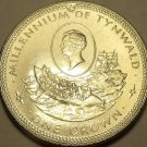 Massive Gem Unc Isle Of Man 1979 Crown~William Hillory~Millennium Of Tynwald~F/S
