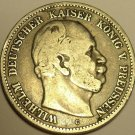 HUGE RARE SILVER PRUSSIA 1876-C 2 MARK~1ST YEAR~FREE SH