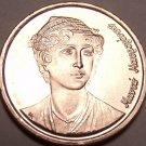 Gem Brilliant Unc Greece 1990 2 Drachmes~Independence Hero~Manto Mavrogenous~F/S