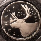Gem Cameo Proof Canada 1985 25 Cents~157,037 Minted~Caribou~Free Shipping