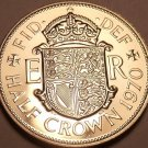 Huge Proof Great Britain 1970 Half Crown~Last Year Ever Minted~Free Shipping