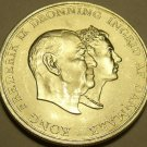 Rare Gem Bu Silver Denmark 1960H-CS 5 Kroner~Silver Wedding Anniversary~Free Shi