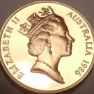 Cameo Proof Australia 1986 Cent~Feather Tailed Glider~67,000 Minted~Free Ship