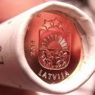 Gem Unc Original Roll (50 Coins) Lativa 2014 One Euro Cents~Free Shipping