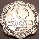 GEM UNC 1988 SRI LANKA(CEYLON) 10 CENTS LAST YEAR FR/SH