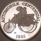 Rare Silver Proof Hutt River 1985 $25.00~Automobile Centennial~5000 Minted~Fr/Sh
