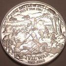 Massive Silver Plated Civil War Proof Medallion~Battla Of Bull Run~Free Shipping