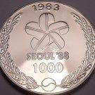 Massive Proof South Korea 1983 1,000 Won~1988 Seoul Olympics~Drummer~Free Ship
