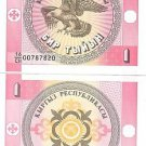 KYRGYZSTAN 1 TYIYN SUPER EAGLE NOTE UNC~FREE SHIP INC~