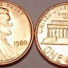 1980-P BRILLIANT UNCIRCULATED LINCOLN CENT~~FREE SHIP~~
