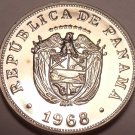 Rare Proof Panama 1968 5 Centesimos~Only 23,210 Minted~Excellent~Free Shipping