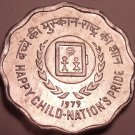 Gem Unc India F.A.O. Issue 1979 10 Paise~International Year Of The Child~Fr/Ship