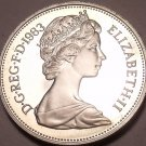 Large Cameo Proof Great Britain 1983 10 Pence~Proofs Are Best~Crowned Lion~Fr/Sh