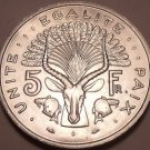 Huge Gem Unc Djibouti 1991 5 Francs~Giant Eland With Headress~Free Shipping