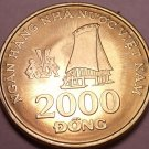 Gem Unc Vietnam 2003 2,000 Dong~Highland Stilt House in Tay Nguyen~Free Shipping