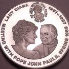 Cameo Proof Congo 2000 5 Francs~Princess Diana Visit With Pope Paul II~Free Ship