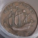 FULL ROLL(20) CIRCULATED OLD GREAT BRITAIN HALF PENNYS~ALL 1940'S~FREE SHIPPING~