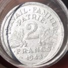 FULL ROLL(20) CIRCULATED LARGE FRANCE 2 FRANCS COINS~ALL PRE-1950~FREE SHIPPING~