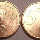 BRILLIANT UNC FRANCE 2006 5 EURO-CENTS~~FREE SHIPPING~~