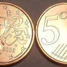 BRILLIANT UNC FRANCE 2002 5 EURO-CENTS~~FREE SHIPPING~~