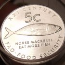 Gem Unc Roll (50 Coins) Namibia 2000 F.A.O. Issue 5 Cents~Horse Mackerel~Free Sh