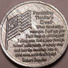 Huge Possibility Thinkers Creed Medallion~Bicentennial~I will Not Quit~Free Ship