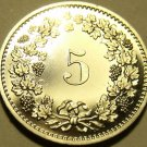 Rare Gem Cameo Proof Switzerland 1977 5 Rappen~7,030 Minted~Free Shipping~