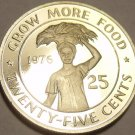RARE CAMEO PROOF LIBERIA 1976 F.A.O. ISSUE 25 CENTS~2,131 MINTED~FREE SHIPPING~