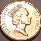 Choice Gem Unc Fiji 2001 1 Cent~Trampoline Coin~Free Shipping