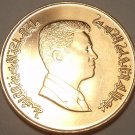 Gem Unc Jordan 2000 1 Qirsch(Piastre)~King Abdullah II~Free Shipping
