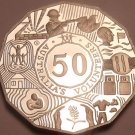 Huge Cameo Proof Australia 2003-B 50 Cents~Volunteers~Only 39k Minted~Free Ship