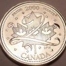 Gem Unc Canada 2000 Quarter Minted to commemorate the Millenium~Pride~Free Ship