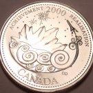 Gem Unc Canada 2000 Quarter Minted to commemorate the Millenium~Achievement~F/S