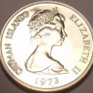 PROOF CAYMAN ISLANDS 1973 10 CENTS~upgrade 2 proof~FR/S