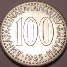 HUGE UNC YUGOSLAVIA 1985 100 DINARA~GREAT PRICE~FR/SHIP