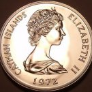 PROOF CAYMAN ISLANDS 1972 25 CENTS~WE HAVE PROOFS~FR/SH