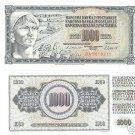 YUGOSLAVIA HUGE 1,000 DINARA AWESOME NOTE UNCIRCULATED!