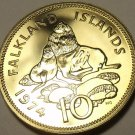HUGE PROOF FALKLAND ISLANDS 1974 10 PENCE~URSINE SEAL~1ST YEAR EVER~FREE SHIP~