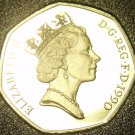 Large Cameo Proof Great Britain 1990 50 Pence~Collect GB Proofs~Free Shipping
