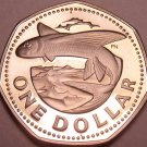 Large Barbados Proof 1973 Dollar~Flying Fish~Seven Sided Coin~Free Shipping