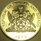 Rare Massive Proof Trinidad & Tobago 1979 Dollar~Only 3,270 Minted~Free Shipping
