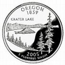 2005-D OREGON  BRILLIANT UNCIRCULATED STATE QUARTER