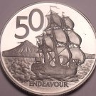 Huge Cameo Proof New Zealand 1979 50 Cents~16,000 Minted~Free Shipping