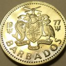 RARE PROOF BARBADOS 1977 25 CENTS~SUGAR MILL~FREE SHIPPING~ONLY 5,014 EVER MADE~