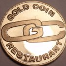 Proof-Like Gold Coin Restaurant Grand Opening Medal~700 Minted~Free Shipping~