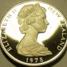 Cameo Proof New Zealand 1978 50 Cents~H.M.S. Endeavour~15,000 Minted~Free Ship