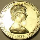 Rare Proof British Virgin Islands 1979 5 Cents~Zenaida Dove~5,304 Minted~Free Sh
