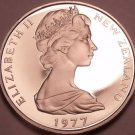 Cameo Proof New Zealand 1977 50 Cents~HMS ENDEAVOUR~Only 12,000 Minted~Free Ship