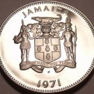 JAMAICA PROOF 1971 10 CENTS~14K MINTED~LIGNUM VITALE~FREE SHIPPING~